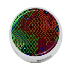 Psychedelic Abstract Swirl 4 Port Usb Hub (one Side)