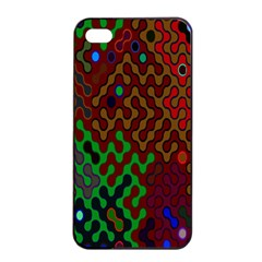 Psychedelic Abstract Swirl Apple Iphone 4/4s Seamless Case (black) by Nexatart