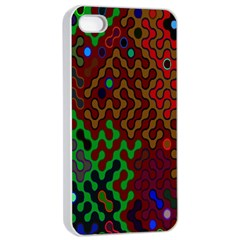 Psychedelic Abstract Swirl Apple Iphone 4/4s Seamless Case (white)