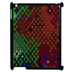 Psychedelic Abstract Swirl Apple Ipad 2 Case (black) by Nexatart
