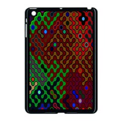 Psychedelic Abstract Swirl Apple iPad Mini Case (Black) by Nexatart