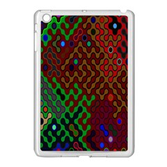 Psychedelic Abstract Swirl Apple Ipad Mini Case (white)