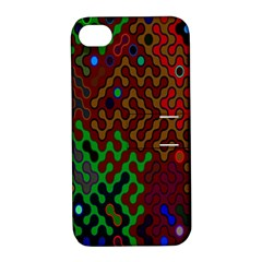 Psychedelic Abstract Swirl Apple Iphone 4/4s Hardshell Case With Stand by Nexatart