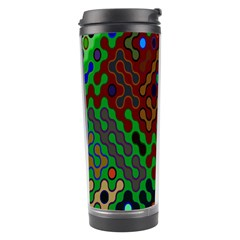 Psychedelic Abstract Swirl Travel Tumbler by Nexatart