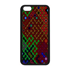Psychedelic Abstract Swirl Apple Iphone 5c Seamless Case (black) by Nexatart