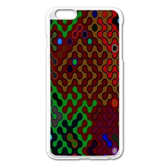 Psychedelic Abstract Swirl Apple Iphone 6 Plus/6s Plus Enamel White Case by Nexatart