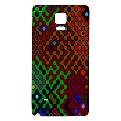 Psychedelic Abstract Swirl Galaxy Note 4 Back Case by Nexatart