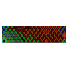 Psychedelic Abstract Swirl Satin Scarf (oblong) by Nexatart