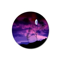Purple Sky Magnet 3  (round) by Nexatart
