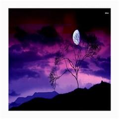 Purple Sky Medium Glasses Cloth by Nexatart