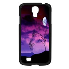 Purple Sky Samsung Galaxy S4 I9500/ I9505 Case (black)