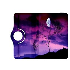 Purple Sky Kindle Fire Hdx 8 9  Flip 360 Case