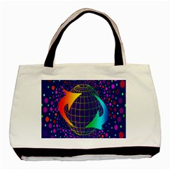Recycling Arrows Circuit Basic Tote Bag (two Sides) by Nexatart