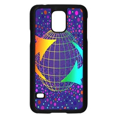 Recycling Arrows Circuit Samsung Galaxy S5 Case (black) by Nexatart