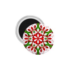 Red And Green Snowflake 1 75  Magnets