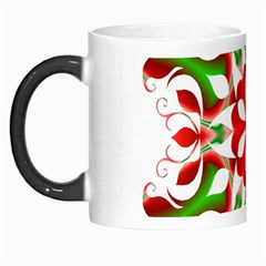 Red And Green Snowflake Morph Mugs