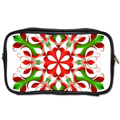 Red And Green Snowflake Toiletries Bags