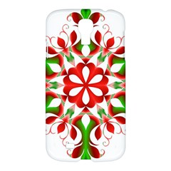 Red And Green Snowflake Samsung Galaxy S4 I9500/i9505 Hardshell Case
