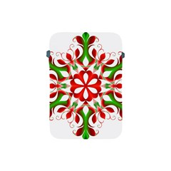 Red And Green Snowflake Apple Ipad Mini Protective Soft Cases