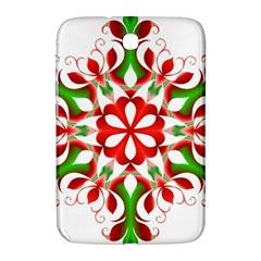 Red And Green Snowflake Samsung Galaxy Note 8 0 N5100 Hardshell Case  by Nexatart