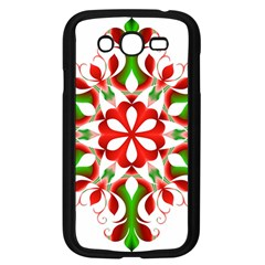 Red And Green Snowflake Samsung Galaxy Grand Duos I9082 Case (black)