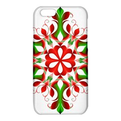 Red And Green Snowflake iPhone 6/6S TPU Case