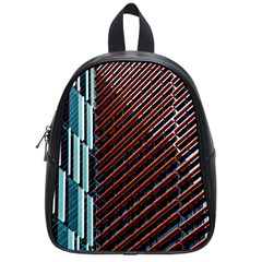Red And Black High Rise Building School Bags (small)  by Nexatart