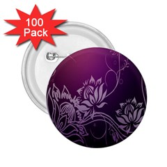 Purple Lotus 2 25  Buttons (100 Pack)