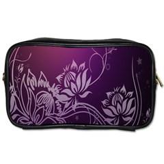 Purple Lotus Toiletries Bags 2 Side