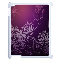Purple Lotus Apple Ipad 2 Case (white)