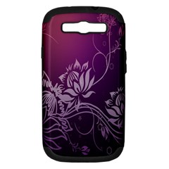 Purple Lotus Samsung Galaxy S Iii Hardshell Case (pc+silicone)