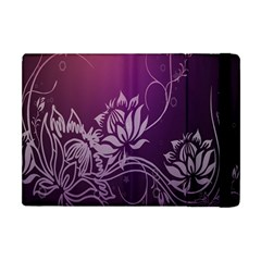 Purple Lotus Apple Ipad Mini Flip Case