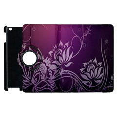 Purple Lotus Apple Ipad 2 Flip 360 Case