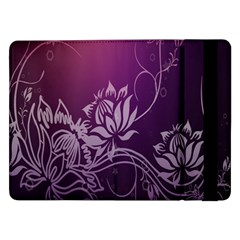 Purple Lotus Samsung Galaxy Tab Pro 12 2  Flip Case