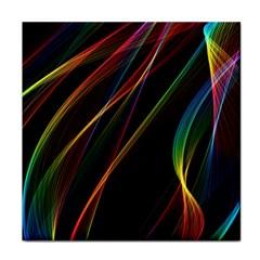 Rainbow Ribbons Tile Coasters by Nexatart