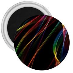 Rainbow Ribbons 3  Magnets by Nexatart