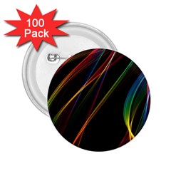 Rainbow Ribbons 2 25  Buttons (100 Pack)