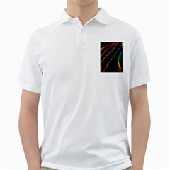 Rainbow Ribbons Golf Shirts by Nexatart