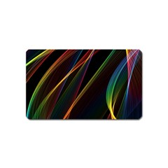 Rainbow Ribbons Magnet (name Card) by Nexatart