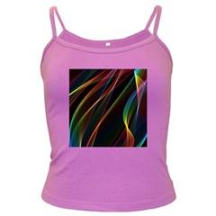 Rainbow Ribbons Dark Spaghetti Tank by Nexatart