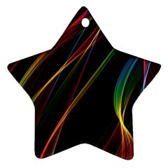 Rainbow Ribbons Star Ornament (two Sides) by Nexatart