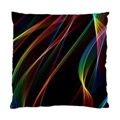 Rainbow Ribbons Standard Cushion Case (two Sides) by Nexatart