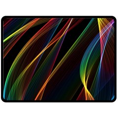 Rainbow Ribbons Fleece Blanket (large)  by Nexatart