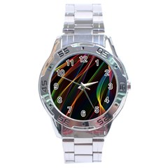 Rainbow Ribbons Stainless Steel Analogue Watch