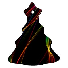 Rainbow Ribbons Christmas Tree Ornament (two Sides) by Nexatart
