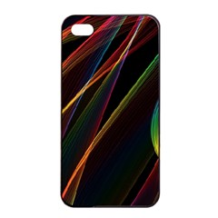 Rainbow Ribbons Apple Iphone 4/4s Seamless Case (black) by Nexatart