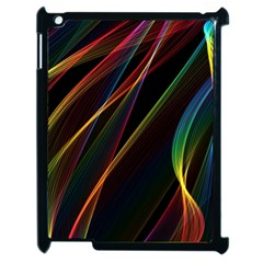 Rainbow Ribbons Apple Ipad 2 Case (black) by Nexatart