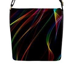 Rainbow Ribbons Flap Messenger Bag (l)