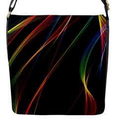 Rainbow Ribbons Flap Messenger Bag (s)