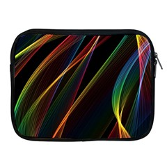 Rainbow Ribbons Apple Ipad 2/3/4 Zipper Cases by Nexatart